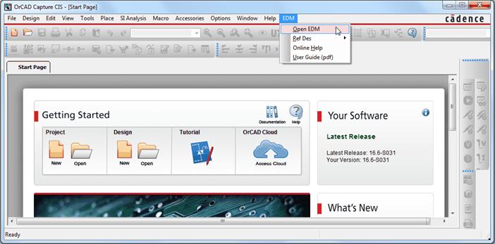 OrCAD EDM提供了原理图进行团队协作和集成数据管理的环境,能够完全集成在OrCAD Capture原理图设计环境中,满足工程师设计团队快速高效的进行设计沟通和设计数据的交付,最大化的提高了多人在线协同设计图纸的能力。 OrCAD Engineering Data Management (EDM)是一个全面的OrCAD Capture PCB原理图设计方案协作和管理环境。OrCAD EDM完全嵌入OrCAD Capture,得益于高效的设计数据管理,让您的工程设计团队在上市时间方面更有优势。该解决方案